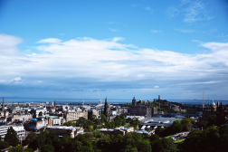View from the top of Edinburgh Castle