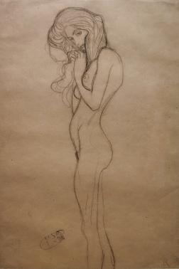 "Study for the Three Gorgons, ""Beethoven Frieze"" 1901, Gustav Klimt"