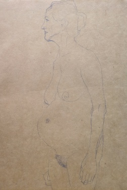 """Study for the """"Three Ages of Woman"""", 1904-1905, Gustav Klimt"""
