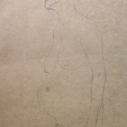 "Study for the ""Three Ages of Woman"", 1904-1905, Gustav Klimt"