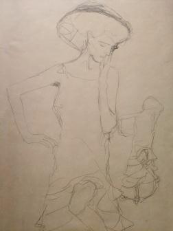 """Studies for """"Judith II (""""Salome"""") c.1908, Gustav Klimt"""