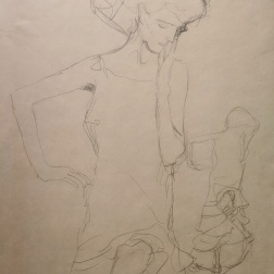 "Studies for ""Judith II (""Salome"") c.1908, Gustav Klimt"