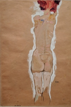 Female Nude Seen from Behind, 1910 - Egon Schiele