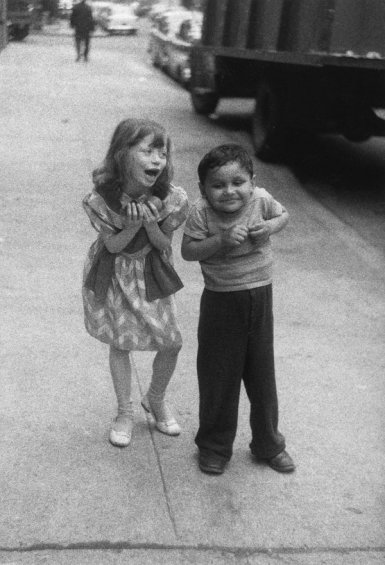 Child teasing another, N.Y.C., 1960.