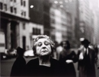 Woman on the Street with Her Eyes Closed Date: 1956